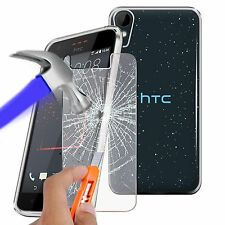 For HTC Desire 825 - Ultra Thin Clear TPU Gel Skin Case Cover & Glass
