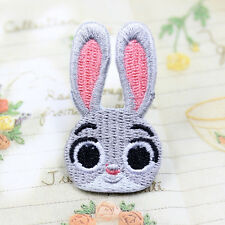 Zootopia Judy Rabbit Patch Embroidered Movie Animation Iron On Sew On Patches