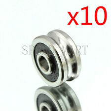 10pc SG15 U Groove 5*17*8mm Sealed Ball Track Guide Bearing Textile Machine Hi-Q
