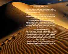 "Footprints in the Sand Poem Art Print 8""x 10"" Christian Photo 16"
