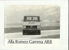 ALFA ROMEO GAMMA AR8  PRESS PHOTO 'SALES BROCHURE' CONNECTED