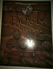 TSR Planescape Adventure The FACTOL'S MANIFESTO W/ POSTER/Map 2611 AD&D Book Rp