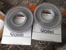 TWO ROLLEI CIRCULAR SLIDE MAGAZINES FOR P37 PROJECTOR