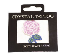 Funky, Glamorous & Eye Catching Glittered Rose & Easy Stick On Body Jewel(Zx96)