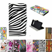Printed Leather Card Slots Wallet Cover Case For Sony Xperia Z Z1 Z2 Z3 Z4 M2 E1
