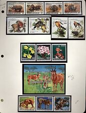Centra African Rep. Topical Collection Butterflies,Birds  Mint NH  in mounts jp