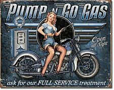 Pump N Go Gas metal sign  400mm x 320mm  (de)