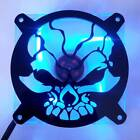 Custom 80mm FRACTURED SKULL Computer Fan Grill Gloss Black Acrylic Cooling Cover