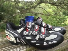 EXUSTAR Bicycle Mountain or Road Cycling Pedal Shoes Mens Sz 7 BRAND New Silver