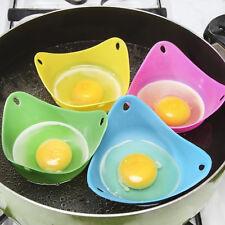 HOT 4PCS Silicone Egg Poacher Egg Cups Cookware Microwave Egg Cooker Egg Boiler