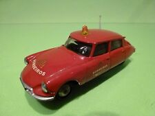 METOSUL CITROEN DS 19 - BOMBEIROS  COMANDO - FIRE RED 1:43 - GOOD CONDITION