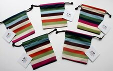 COACH~Striped Drawstring DUST BAG Storage Protector Cover LEGACY Jewelry*5/pc