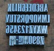 Caracteres plomb 23mm Tampon Alphabet Imprimerie Typographie Lettres imprimeur