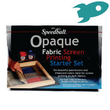 Speedball Opaque Fabric Screen Printing Ink Starter Set - Artist Christmas Gift