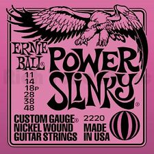 Ernie Ball 2220 Power Slinky 11 48 Corde Per Chitarra Elettrica Muta Completa