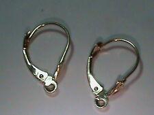 5 Pair 14 KT Gold Leverback Earring Findings w/ Tulip Fine Jewelry Hang Dangels
