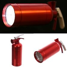 Novelty Red Fire Extinguisher 9 LED Torch - Extra Bright Pocket Flashlight Gift