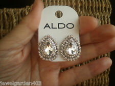 ALDO STUNNING SILVER TONE & ALL BLING  STATEMENT EARRINGS