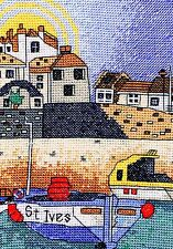 St Ives Harbour - Cornwall - Cross Stitch Kit - Crossstitch