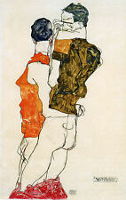 Egon Schiele Reproductions: Two Men - Fine Art Print