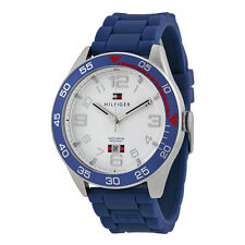 Tommy Hilfiger White Dial Blue Silicone Mens Watch 1790977