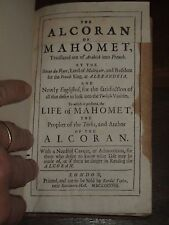 1688 THE ALCORAN OF MAHOMET - KORAN FROM ARABICK TO FRENCH BY RYER NOW ENGLISHED