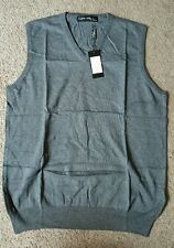 Luciano Natazzi Couture Sweater Vest, Gray, Sz. LG