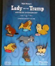 DISNEY Pin Catalog Lady and The Tramp 50th Anniversary 7 Pin Set 36302 LE