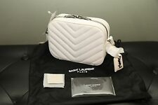 NEW!!! SAINT LAURENT Monogram YSL Small Camera Cross Body, Shoulder Bag, White