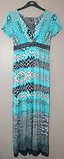 LADIES M&S PER UNA FAUX SNAKESKIN PRINT MAXI DRESS SIZE 8 MEDIUM MULTI BNWT