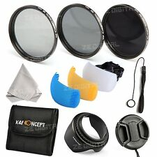 52mm ND2 ND4 ND8 Filter Kit Lens Hood Flash Diffuser Cover For Nikon D5200 D3200