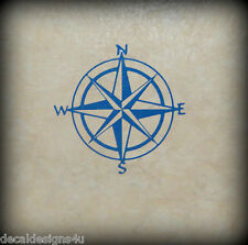 "6"" Compass Rose decal sticker for Boat Wall Glass block shadow box"