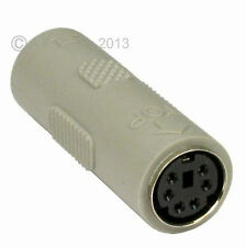 PS/2 PS2 Keyboard Mouse Coupler Female Socket Joiner Gender Changer Adapter New