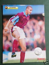 RIO FERDINAND - WEST HAM - 1 PAGE PICTURE - CLIPPING /CUTTING