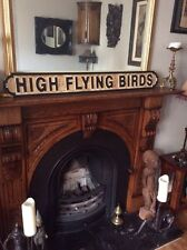 High Flying Birds Wood Carved Wooden Street Sign Oasis Pretty Green Noel Liam