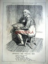"1927 Punch Cartoon Print, Jack Horner Lloyd George - ""Apologia Pro Pollice Meo"""