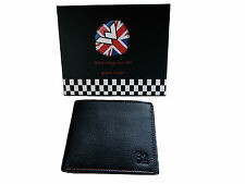 Warrior 2Tone TwoTone Leather Wallet Purse Portemonnaie Mod Scooter Skinhead Ska