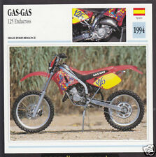 1994 Gas-Gas 125cc Enducross Enduro Motocross Spain Motorcycle Photo Spec Card