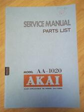 Akai Service Manual/Parts List~AA-1020/1020L Receiver~Original~Repair
