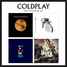 COLDPLAY - 4 CD CATALOGUE SET - PARACHUTES/XGY/VIVA LA VIDA/A RUSH OF BLOOD TO