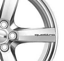6x Quattro Alloy Wheels Decals Stickers Adhesives Premium Quality TT RS A3