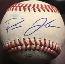 Pierce Johnson Autographed Signed OMiLB Game Used Baseball Chicago Cubs