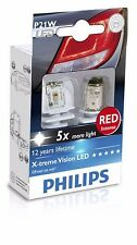 Philips LED P21W 1156 BAU15s Red intense Stop light 12898RX2 (2 Bulbs)