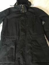 Barbour Long Waxed Coat Jacket M Navy Excond Not Border Beaufort Bedale Durham