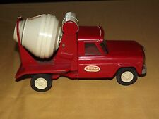 VINTAGE TOY TONKA RED & WHITE CEMENT MIXER METAL TRUCK