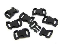 3cm Curved Black Plastic Buckles Buckle Side Release For 12mm Webbing