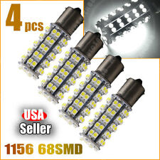 4x Pure White 6000K 1156 BA15S 68-SMD Car Rear Turn Signal LED Light Bulbs