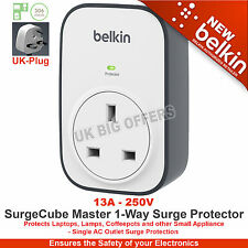 Belkin SurgeCube MASTER 1-way scaricatore di sovratensione bsv102af BRAND NEW UK Plug