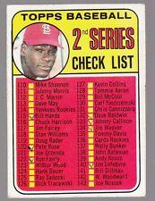 [59986] 1969 TOPPS BASEBALL CARD #107 CHECK LIST 2nd SERIES BOB GIBSON