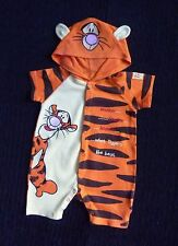 Baby clothes BOY/GIRL 3-6m DISNEY Tigger bright orange/yellow all-in-one hood